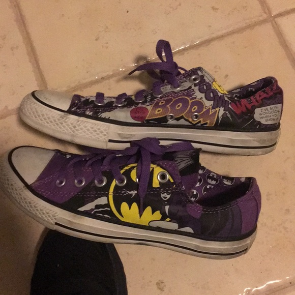 a0c905a81215 Converse Shoes - Limited edition batgirl Batman converse low purple
